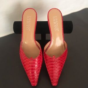 Franco Sarto Red Heeled Mules